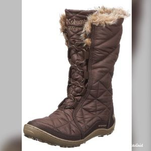 Columbia Minx Cordovan brown quilted snow boots